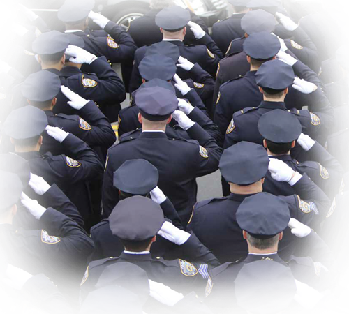 Officers Saluting Background